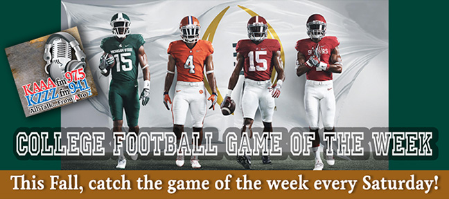 College Football Game of the Week!